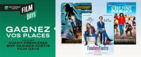 Les avant-premières BNP Paribas Fortis FILM DAYS
