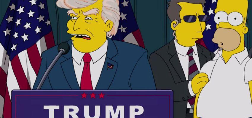 Voor de Simpsons is zege van Trump geen verrassing
