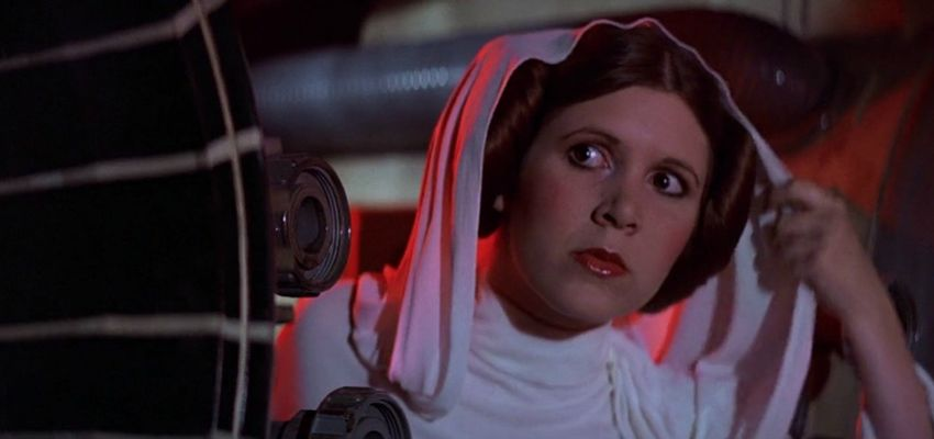 Actrice Carrie Fisher uit